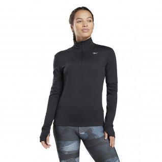 Sweatshirt femme Reebok Running Essentials Quarter-Zip Top