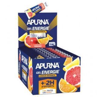 Lot de 25 gels Apurna Energie longue distance agrumes - 35g