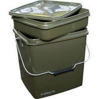 Seau complet Trakker Olive square Bucket 13l