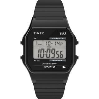 Montre Timex T80 34 mm Bracelet extensible en acier inoxydable